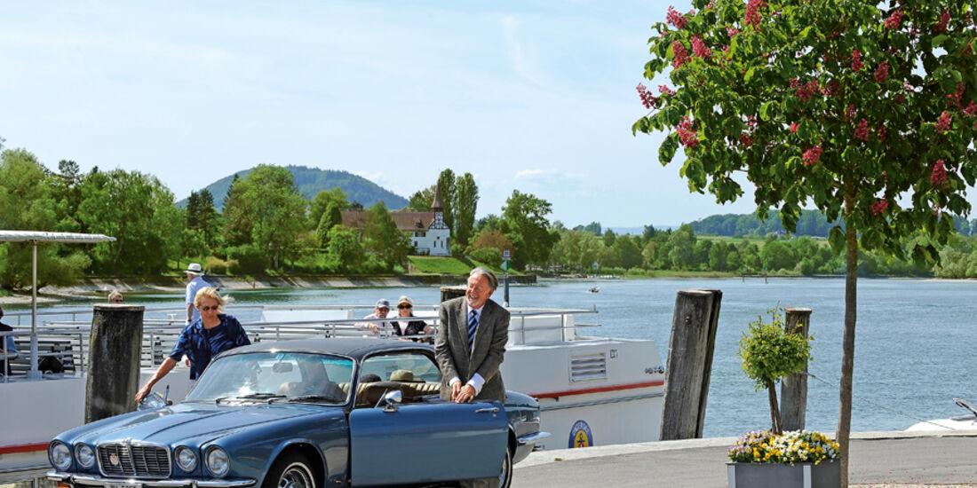 Jaguar XJ 6, Seitenansicht, Stein am Rhein