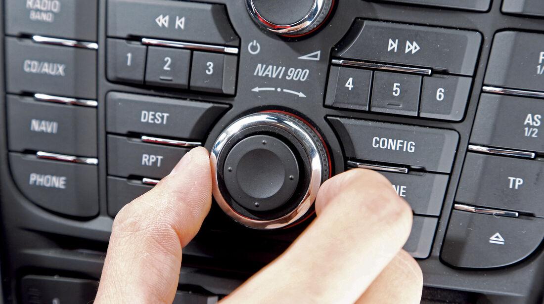 Opel Astra, Bedienelemente, Drückregler