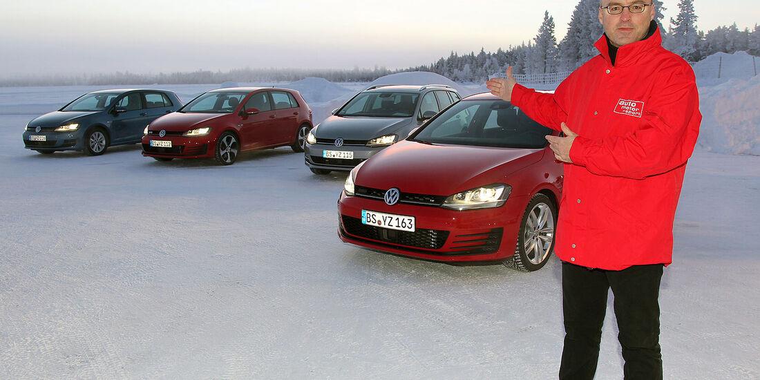 01/2013 VW Golf Abnahmefahrten Polarkreis, Gruppenbild, Ralph Alex