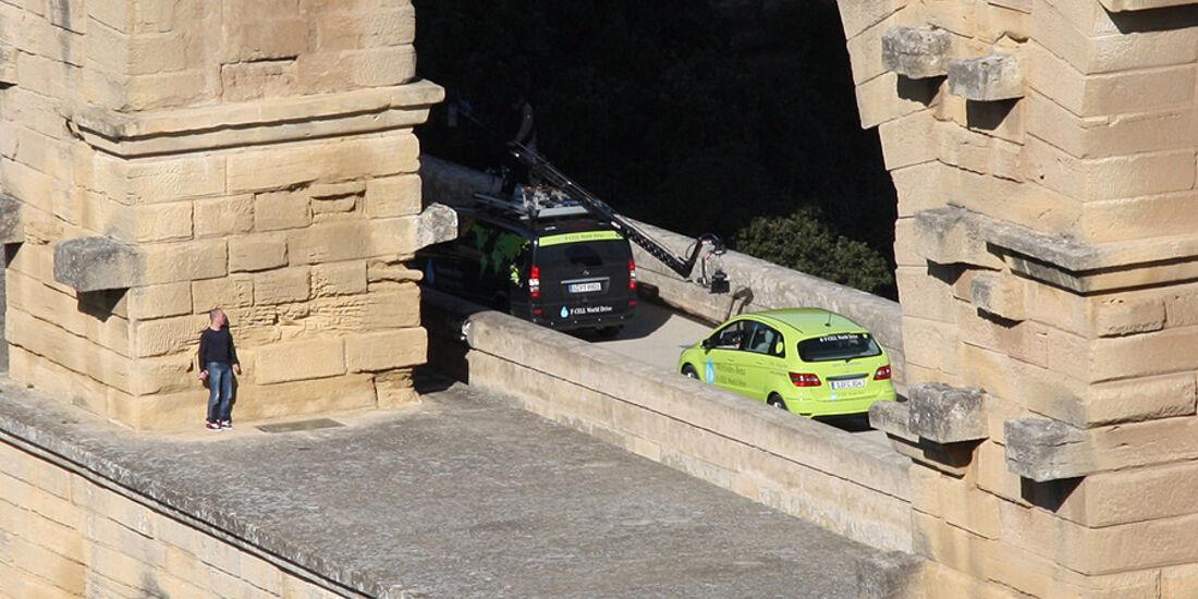 02/11 Mercedes F-Cell World Drive. 4.Etappe Lyon - Perpignan, Mercedes B-Klasse, Brennstoffzelle