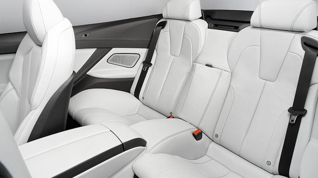 02/2012 BMW M6 Cabrio, Sitze Fond