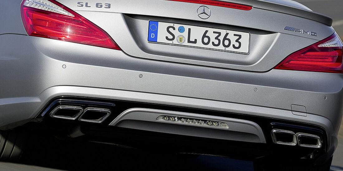 02/2012 Mercedes SL 63 AMG, Auspuff