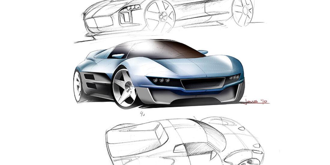 03/11 Gumpert Tornante by Touringleggera Genf, Designskizze