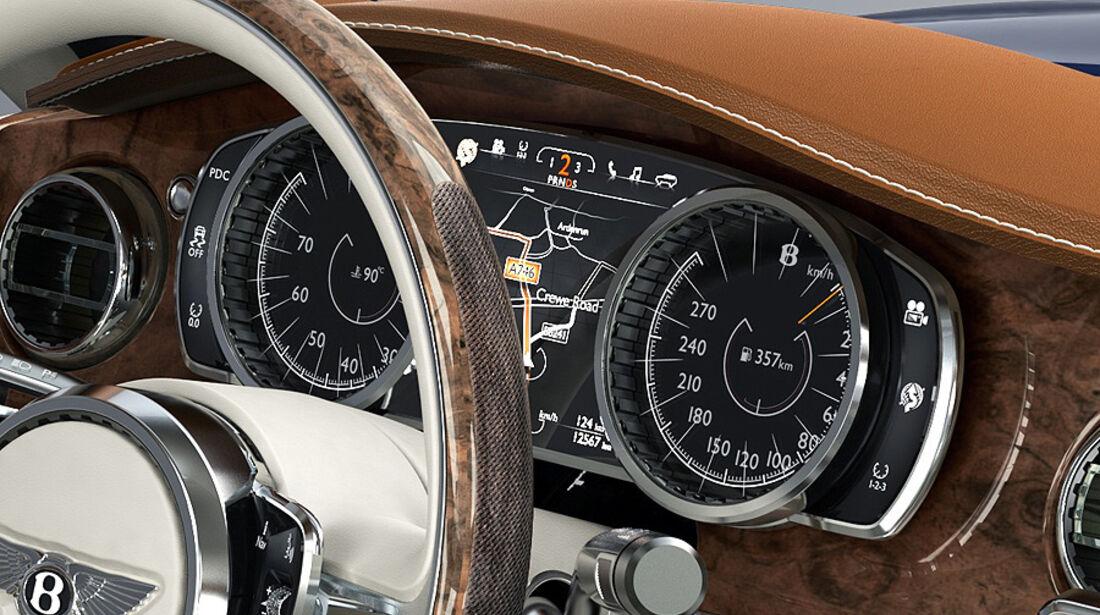 03/2012, Bentley EXP9 SUV Genf, Instrumente