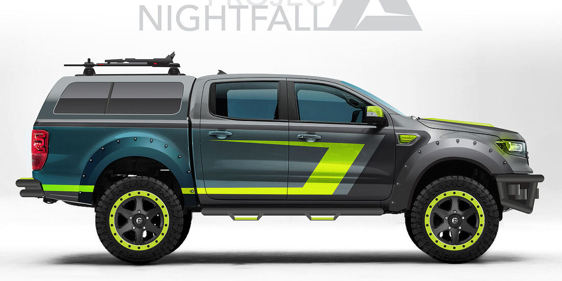 10/2018, 10/2018, Ford Ranger von Project Nightfall auf der SEMA 2018