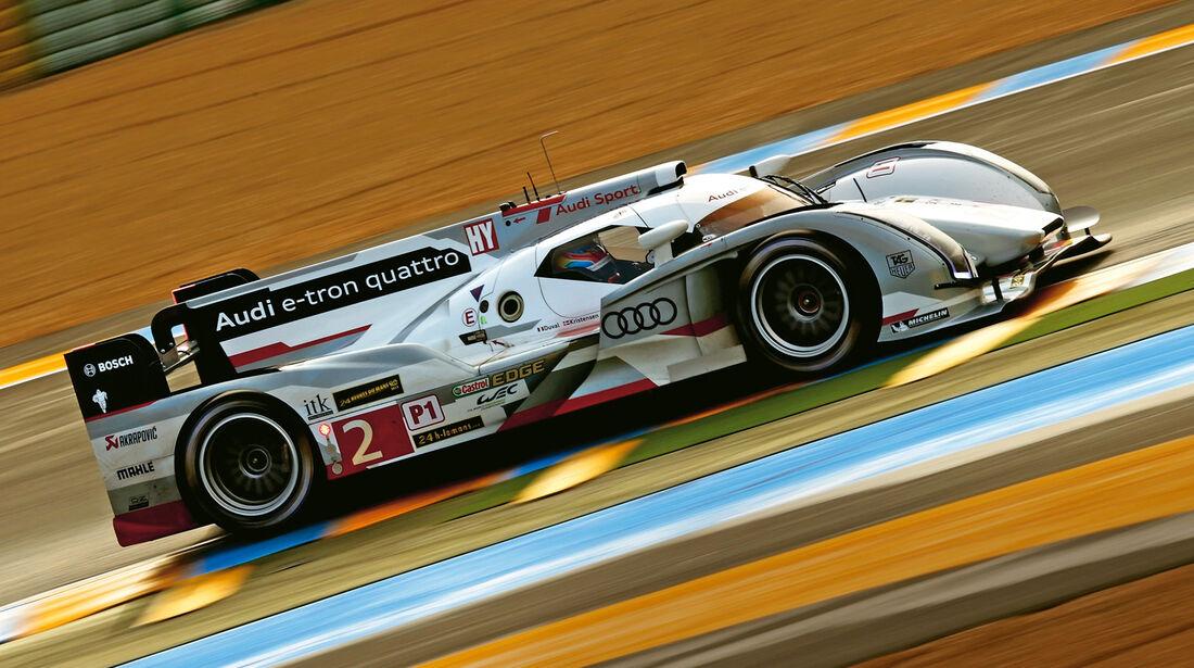 24h Le Mans, Audi e-tron quattro, Seitenansicht