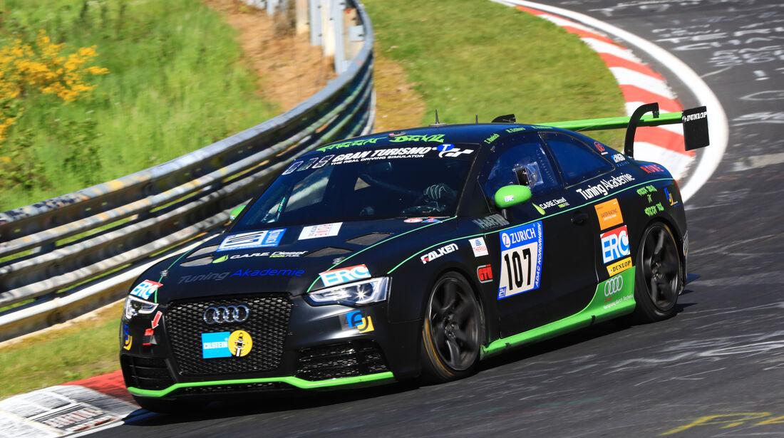 24h-Rennen Nürburgring 2017 - Nordschleife - Startnummer 107 - Audi A5 Quattro -Team Tuning Akademie - Klasse AT