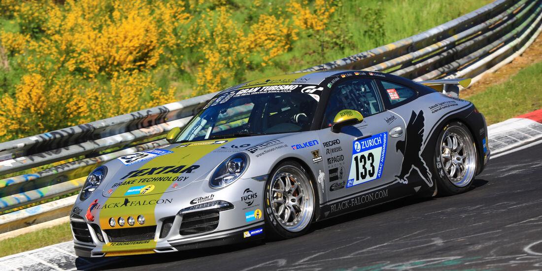 24h-Rennen Nürburgring 2017 - Nordschleife - Startnummer 133 - Porsche Carrera - Black Falcon Team TMD Friction - Klasse V 6