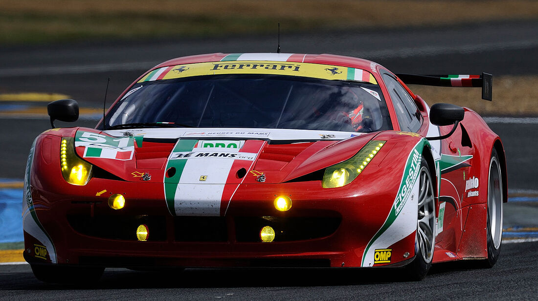 51-Pro-GTE-Klasse, Ferrari 458 Italia, 24h-Rennen LeMans 2012