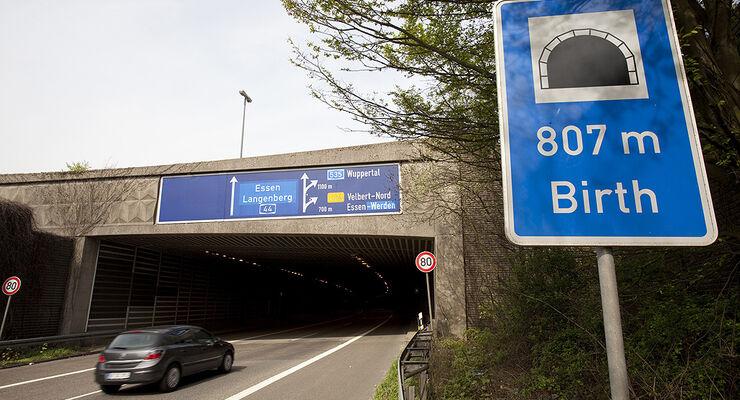 ADAC Tunneltest 2010, Birth bei Velbert, NRW