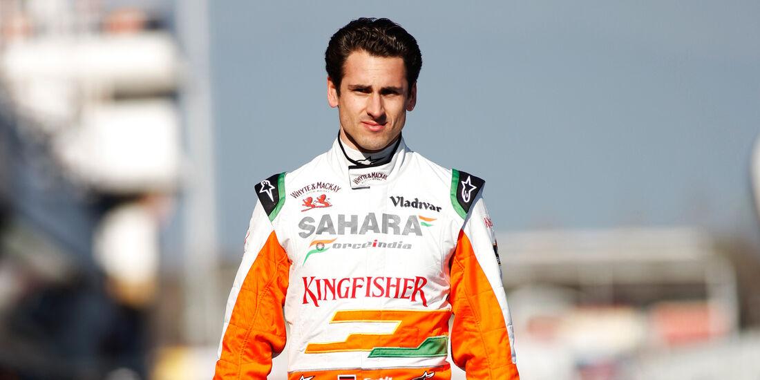 Adrian Sutil F1 Test Barcelona 2013