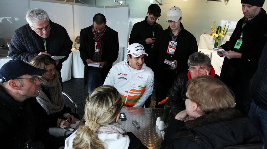 Adrian Sutil - Force India - Formel 1 - Test - Barcelona - 28. Februar 2013
