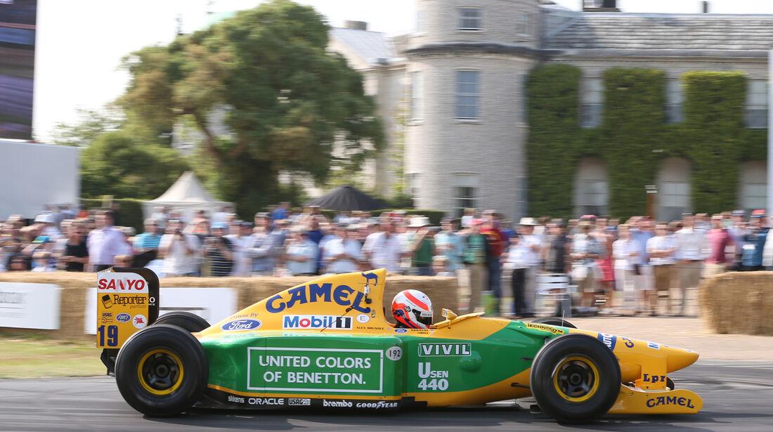 Alex Brundle - Benetton B192 - Goodwood 2013