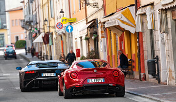 Alfa 4C, Lamborghini Aventador LP750  SV, Heckansicht