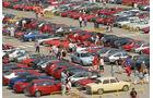 Alfa Romeo - 100 Jahre- Geburtstags-Feier in Mailand - Blick auf einen parkplatz