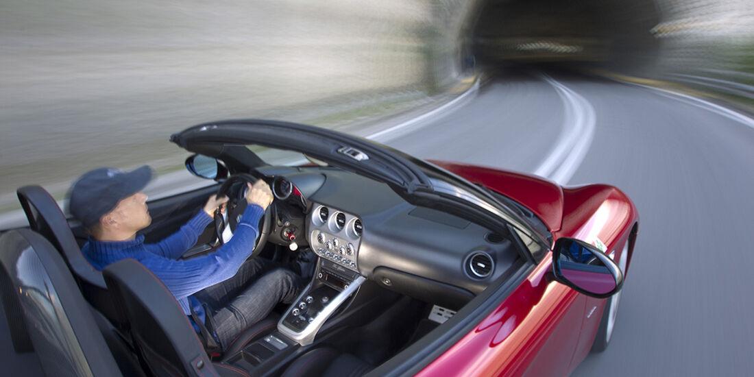 Alfa Romeo 8C Spider, Cockpit, Cabrio