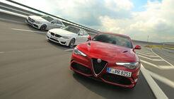 Alfa Romeo Giulia QV, BMW M3 Competition, Mercedes-AMG C 63 S