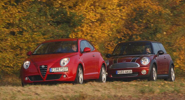 alfa romeo mito und mini cooper im test - auto motor und sport