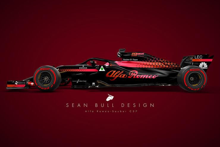 Alfa Romeo Sauber - Photoshop-Concept 2018 - Sean Bull