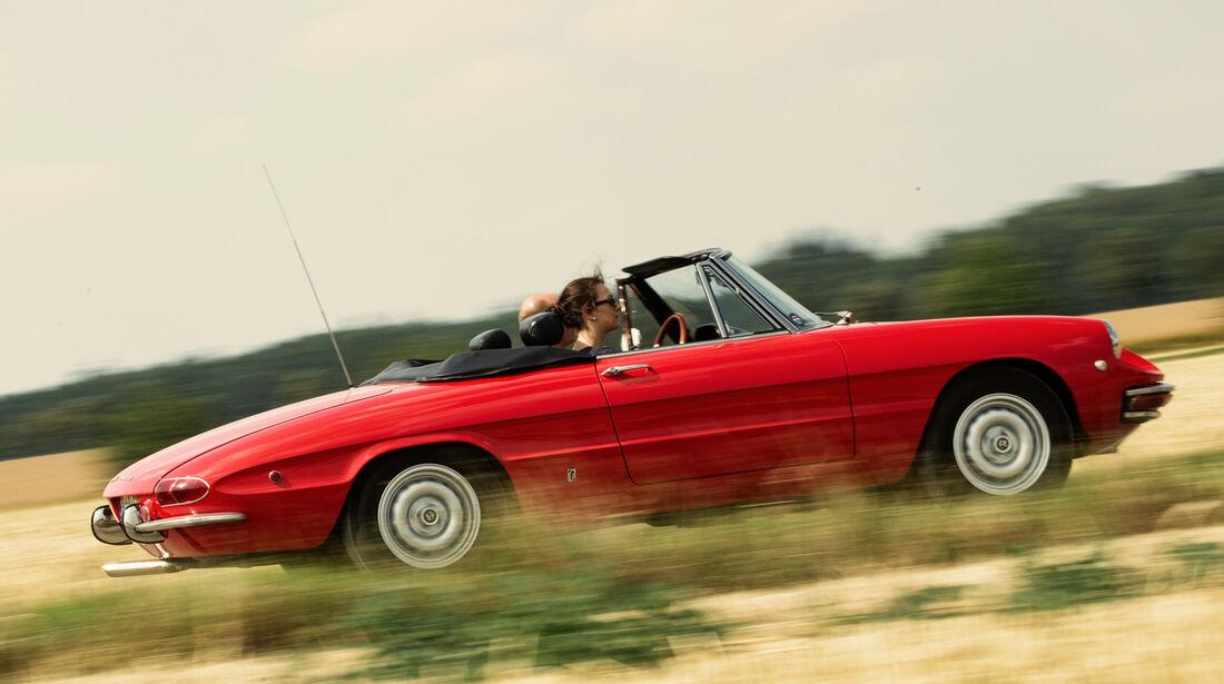 Alfa Spider 1750 Veloce, Seitenansicht