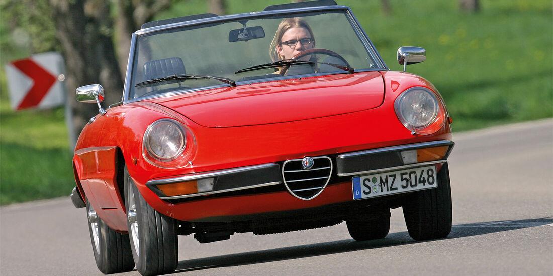Alfa Spider 2000, Frontansicht