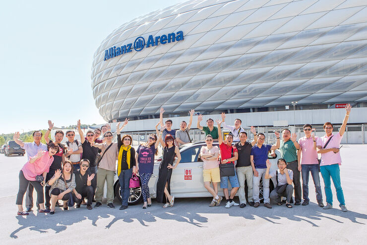 Allianz Arena, Reisegruppe, Chinesen