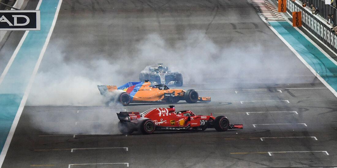 Alonso, Hamilton & Vettel - GP Abu Dhabi 2018