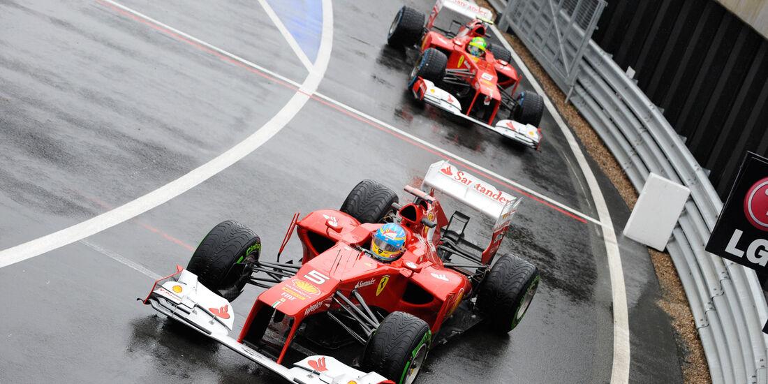Alonso Massa Ferrari GP England 2012