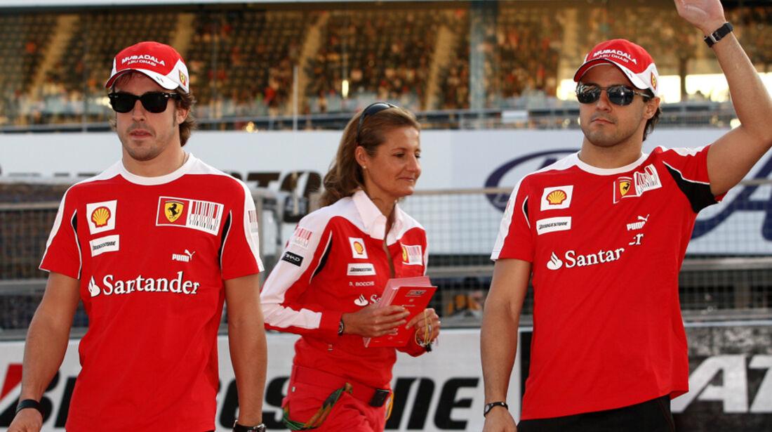Alonso & Massa beim GP Japan