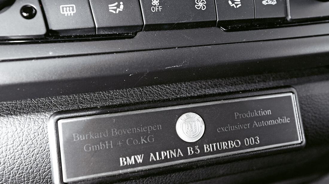 Alpina B3 Biturbo, Bedienelemente