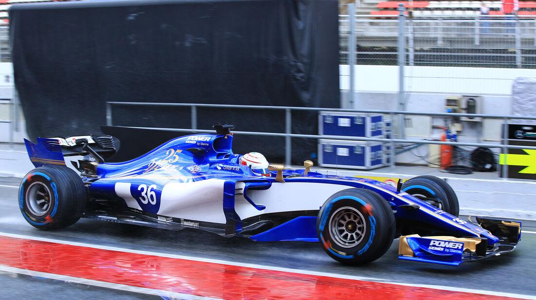 Antonio Giovinazzi - Sauber - Formel 1 - Test - Barcelona - 2. März 2017