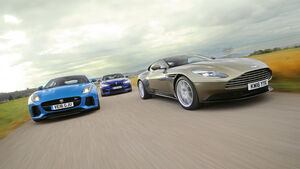 Aston Martin DB11, Jaguar F-Type SVR, BMW M6 Competition