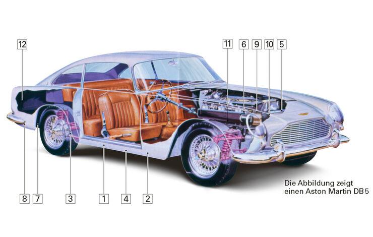 Aston Martin DB6, Schwachstellen, Igelbild