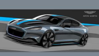 Aston Martin RapidE Skizzen Elektroauto