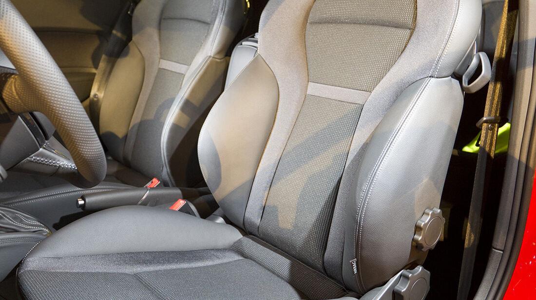 Audi A1, Sitz