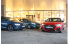 Audi A1 Sportback 30 TFSI Advanced, Ford Fiesta 1.0 EcoBoost Titanium, VW Polo 1.0 TSI Highline, Exterieur