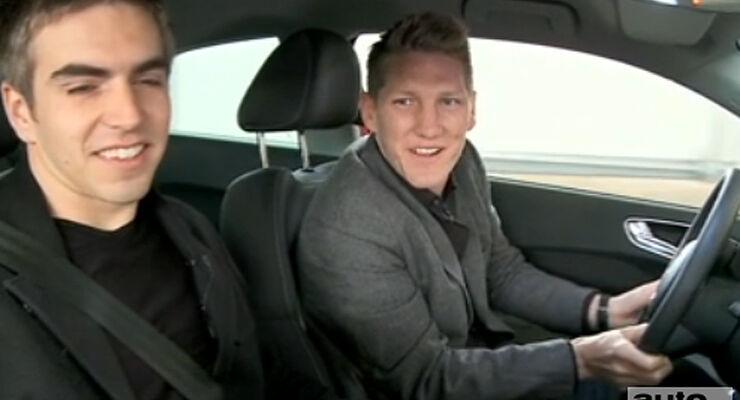 Audi A1 Test Bastian Schweinsteiger Philipp Lahm