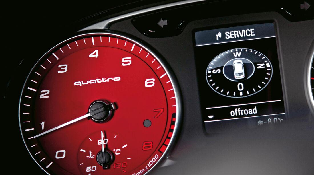 Audi A1 quattro, Rundinstrument