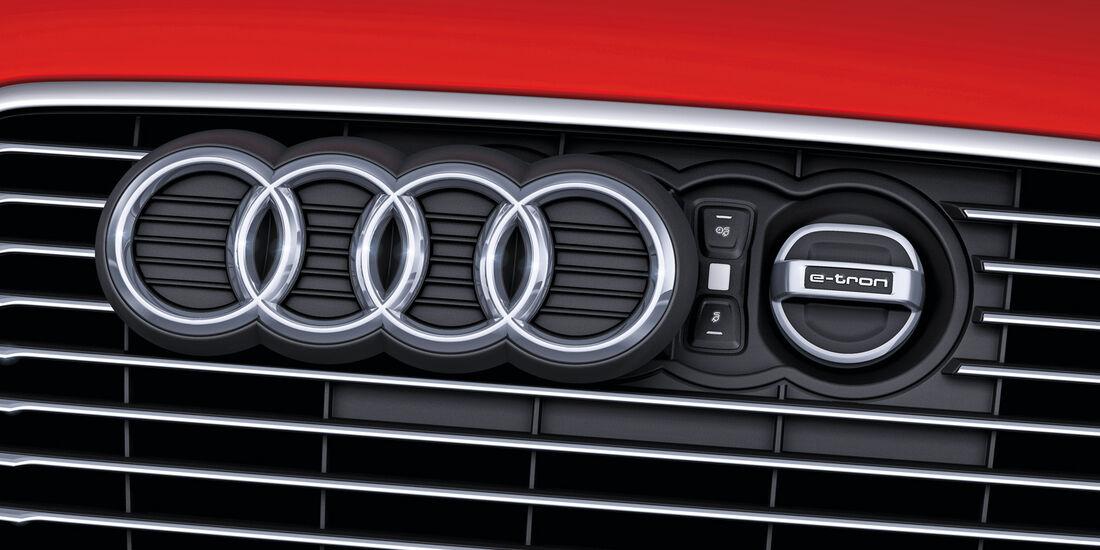 Audi A3 E-Tron, Kühlergrill, Emblem
