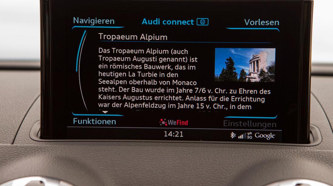 Audi A3 Sportback, Bordmonitor, Navi