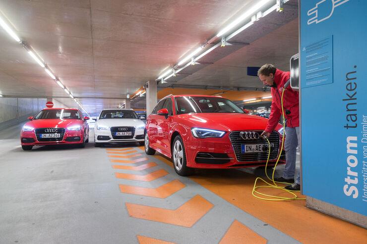 Audi A3 e-tron, Audi A3 2.0 TDI, Audi A3 1.8 TFSI, Frontansicht