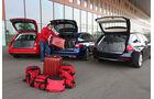 Audi A4 Avant 1.8 TFSI, BMW 320i Touring, Mercedes C 200 T, Kofferraum