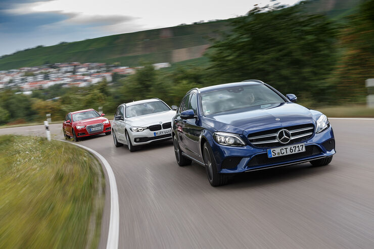 Audi A4 Avant 2.0 TDI, BMW 320d Touring, Mercedes C 220 d T-Modell, Exterieur