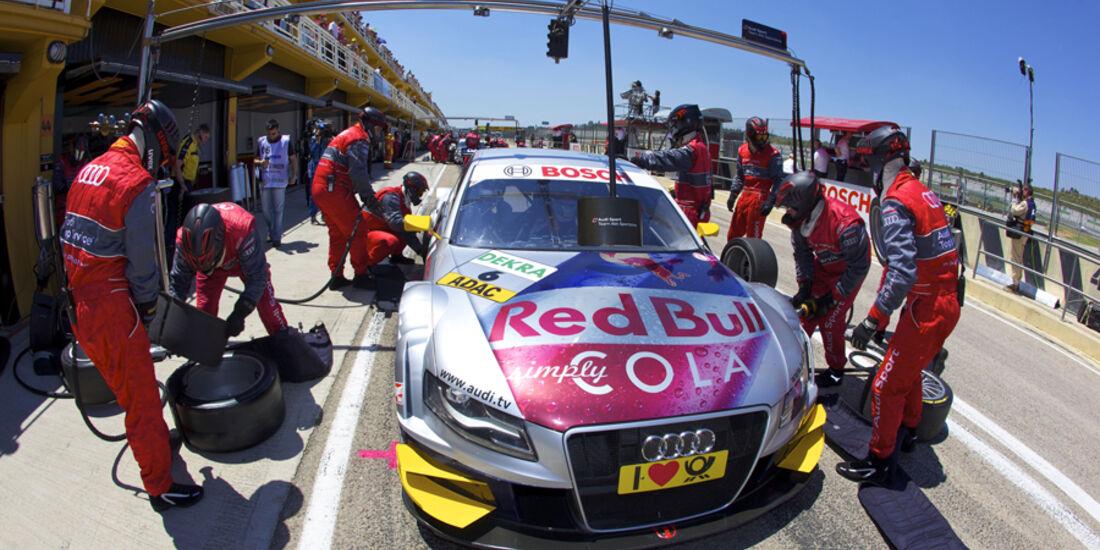 Audi A4 DTM von Martin Tomczyk, Audi Sport Team Abt in der Box