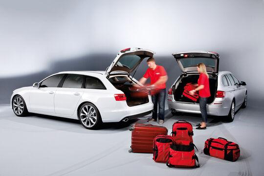 Audi A6 Avant, BMW 5er Touring, beide Fahrzeuge, Ladevolumen