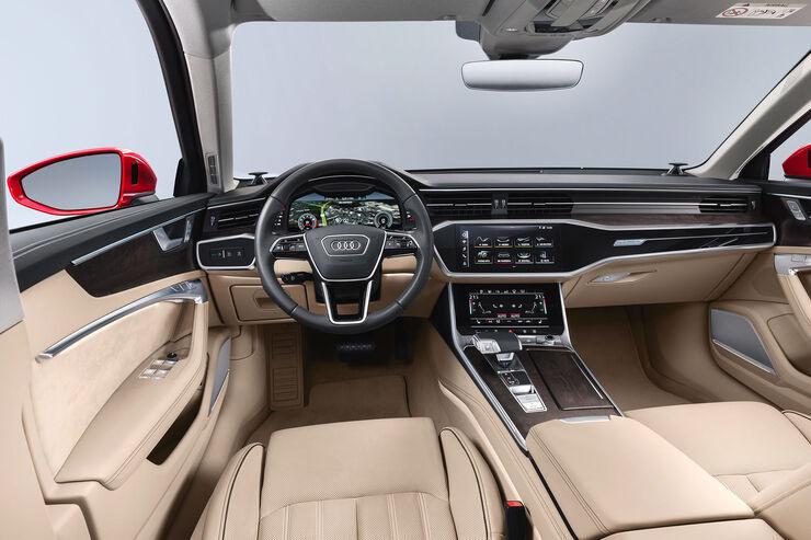 der neue audi a6 2018 cockpit und exterieur im video auto motor und sport. Black Bedroom Furniture Sets. Home Design Ideas