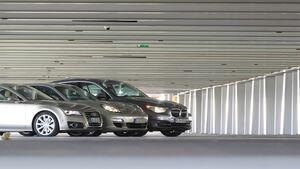 Audi A7 3.0 TDI, BMW 530d GT, Porsche Panamera D, Motorhauben