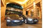 Audi A7 Sportback 3.0 TDI Quattro, Porsche Panamera Diesel, Frontansicht