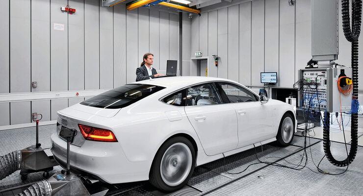 Audi A7 auf dem Prüfstand