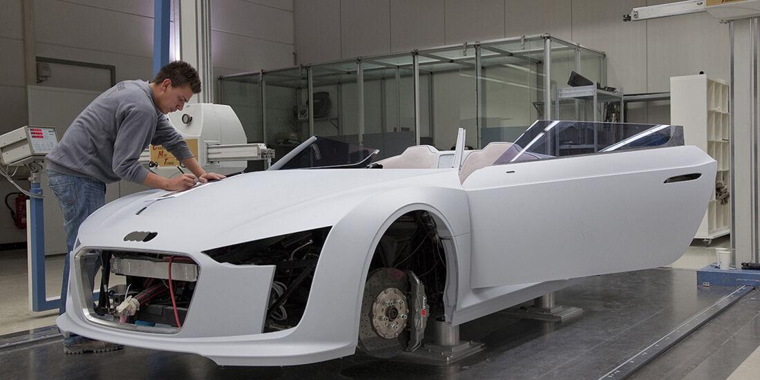 Audi E-Tron Spyder, Werkstatt